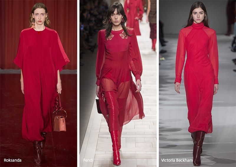 Fall/ Winter 2017-2018 Color Trends: Crimson