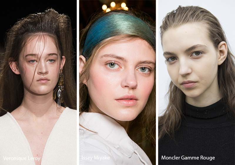 Fall/ Winter 2017-2018 Hairstyle Trends: Messy Swept-Back Hair
