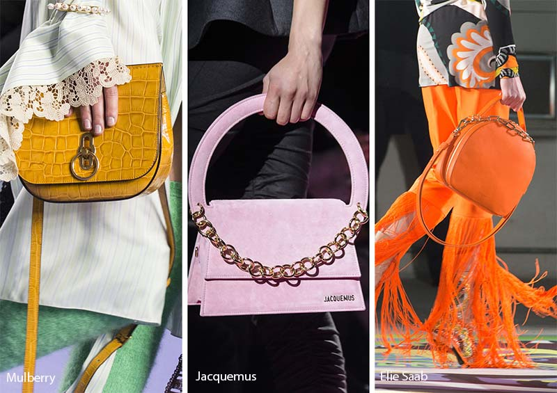 Fall Winter 2017 2018 Handbag Trends Brightly Colored Bags