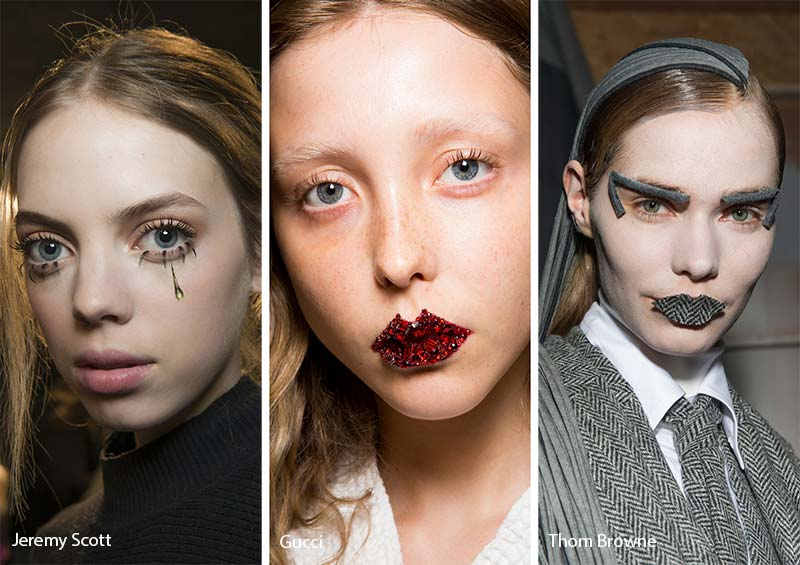 Fall/ Winter 2017-2018 Makeup Trends: Art with Makeup Appliques