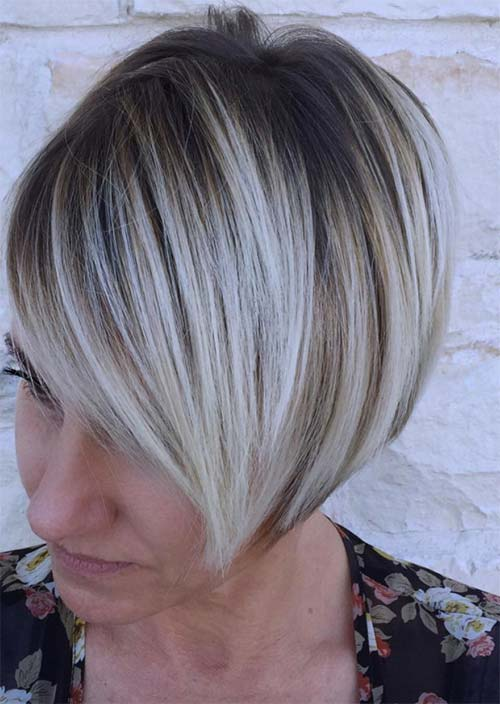 Haircuts & Hairstyles for Women Over 50: High Contrast Ombre Balayage