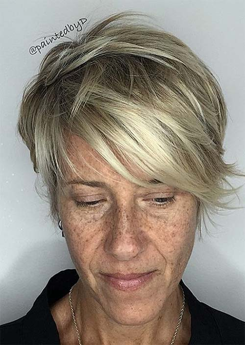 Haircuts & Hairstyles for Women Over 50: Beachy Blonde Balayage