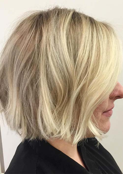 Haircuts & Hairstyles for Women Over 50: Blonde Bob