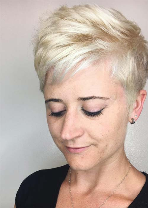 Haircuts & Hairstyles for Women Over 50: Blonde Pixie Cut