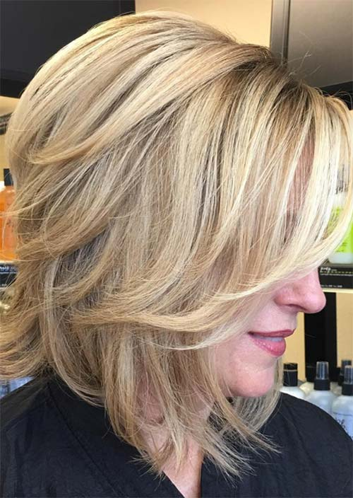 Haircuts & Hairstyles for Women Over 50: Golden Balayage