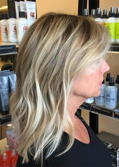 Haircuts & Hairstyles for Women Over 50: Waves Down Shoulders