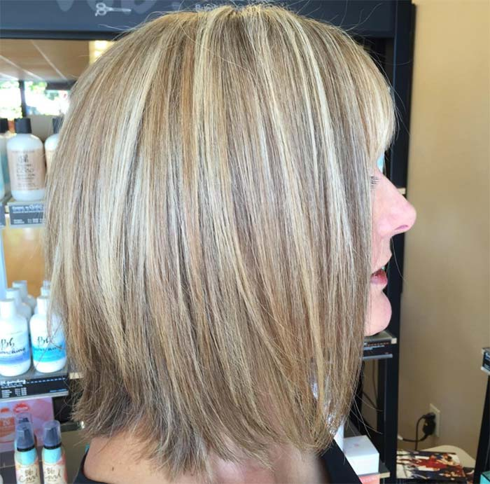 Haircuts & Hairstyles for Women Over 50: Sunlight Balayage