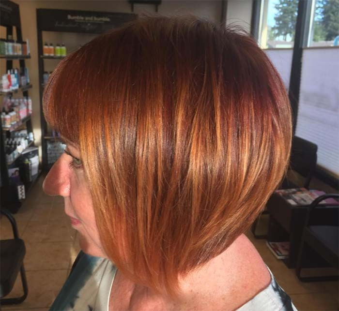 Haircuts & Hairstyles for Women Over 50: Red Balayage