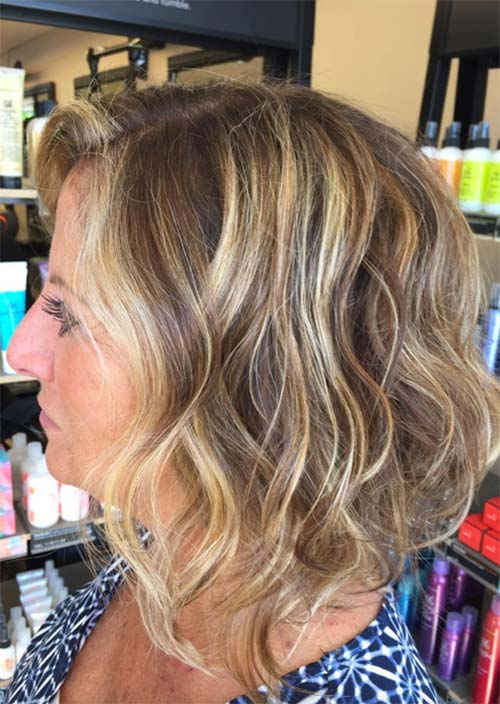 Haircuts & Hairstyles for Women Over 50: Beach Hair Balayage