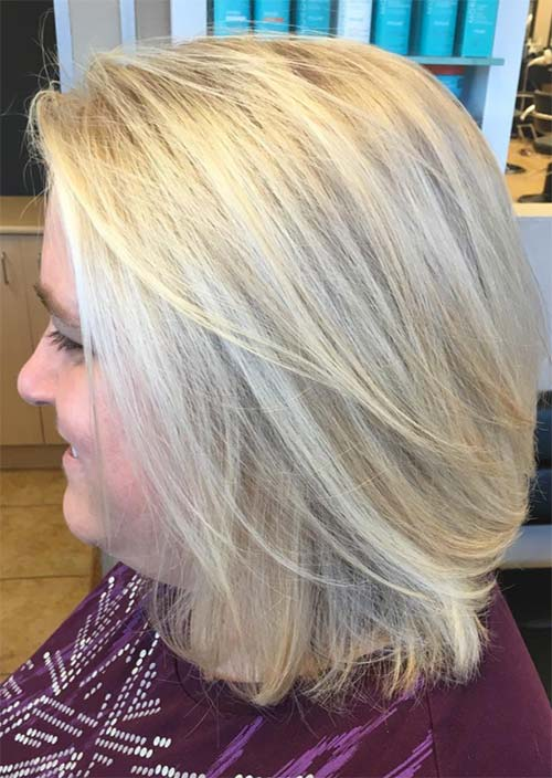 Haircuts & Hairstyles for Women Over 50: Summer Blonde