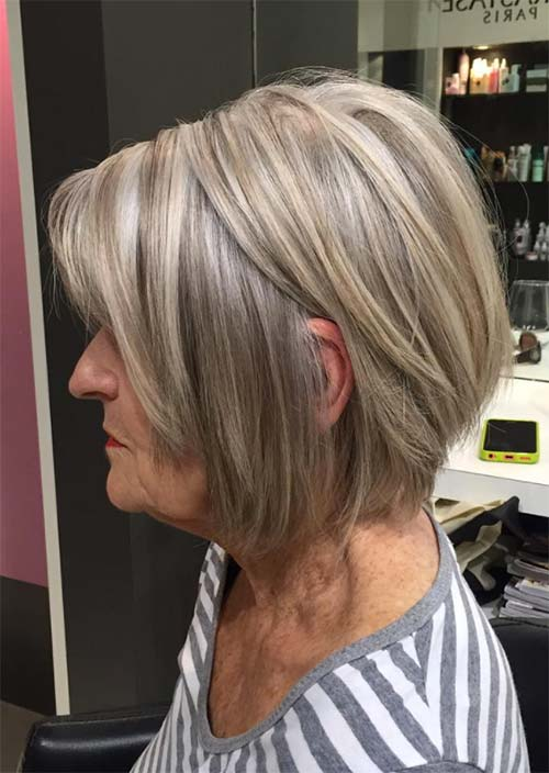 Haircuts & Hairstyles for Women Over 50: Textured Short Bob