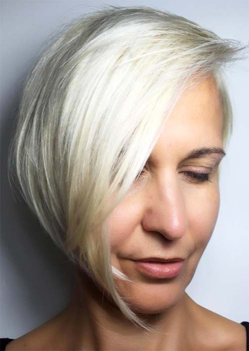Haircuts & Hairstyles for Women Over 50: Fresh Ice Blonde