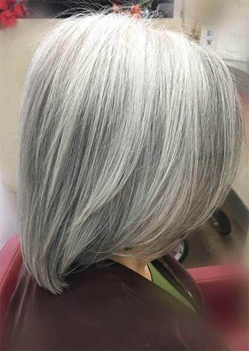 Haircuts & Hairstyles for Women Over 50: Silver Hair