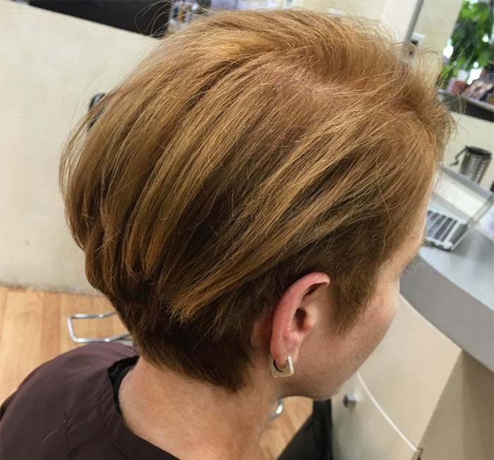 Haircuts & Hairstyles for Women Over 50: Side Trim Short Bob