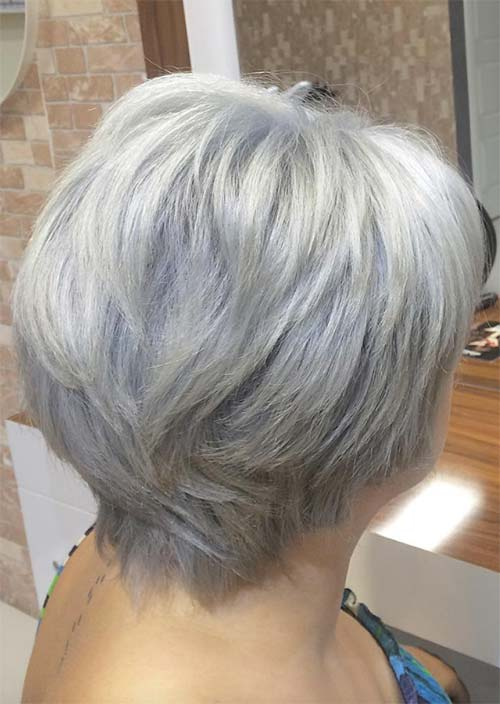 Haircuts & Hairstyles for Women Over 50: Grey Ombre Bob