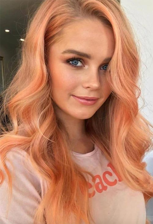 Choosing the Best Peach Hair Color for Your Skin Tone
