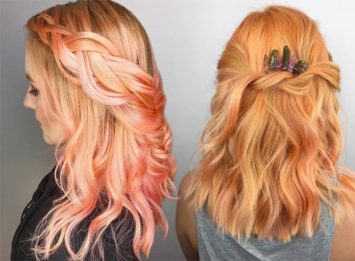 26 Pretty Peach Hair Color Ideas: How To Dye Your Hair Peach - Glowsly