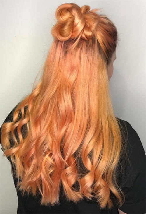 Peach Hair Colors Ideas