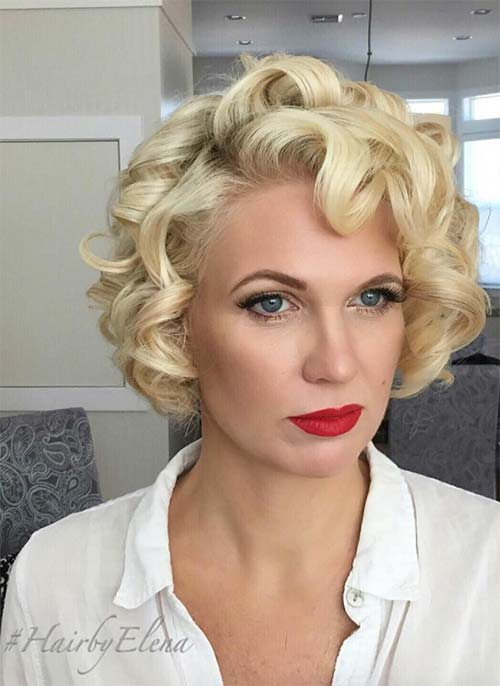 Lovely Short Curly Hairstyles Ideas