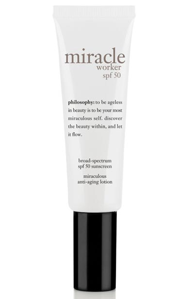 Best Face Moisturizers for Dry Skin: Philosophy Miracle Worker SPF 50 Miraculous Anti-Aging Lotion