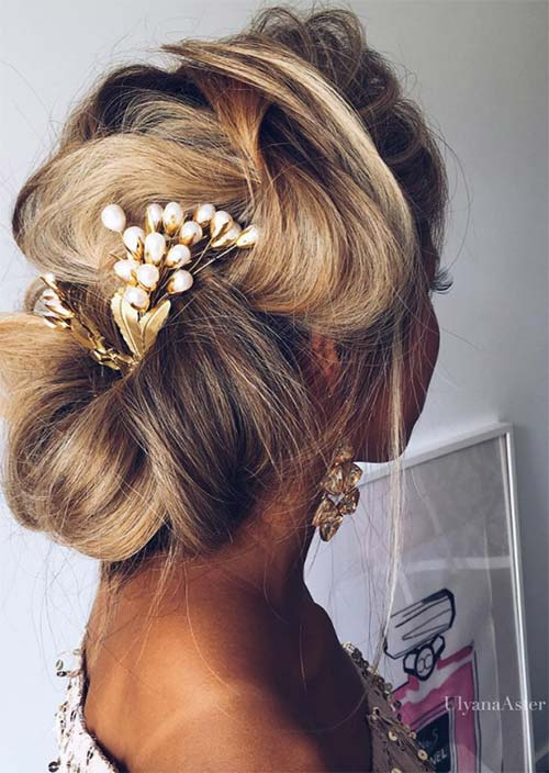 53 Swanky Wedding Updos For Every Bride To Be Glowsly