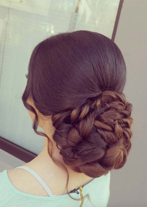 Bridal/ Wedding Updos Hairstyles: Decreasing Braid Bun