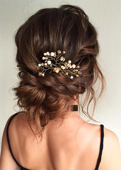 Bridal/ Wedding Updos Hairstyles: Romantic Messy Hair Twist