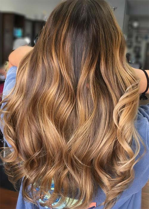 Balayage Hair Trend: Balayage Hair Colors & Balayage Highlights: Caramel and Chocolate Balayage