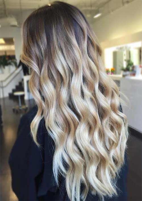 Balayage Hair Trend: Balayage Hair Colors & Balayage Highlights: Blonde Cascade Balayage