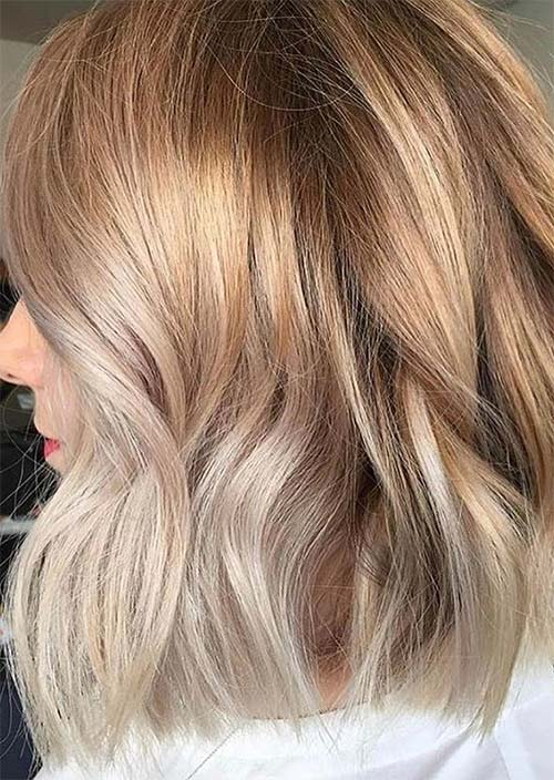 Balayage Hair Trend: Balayage Hair Colors & Balayage Highlights: Coppery Blonde Balayage