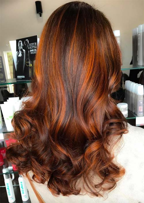 Balayage Hair Trend: Balayage Hair Colors & Balayage Highlights: Ginger & Spice Balayage