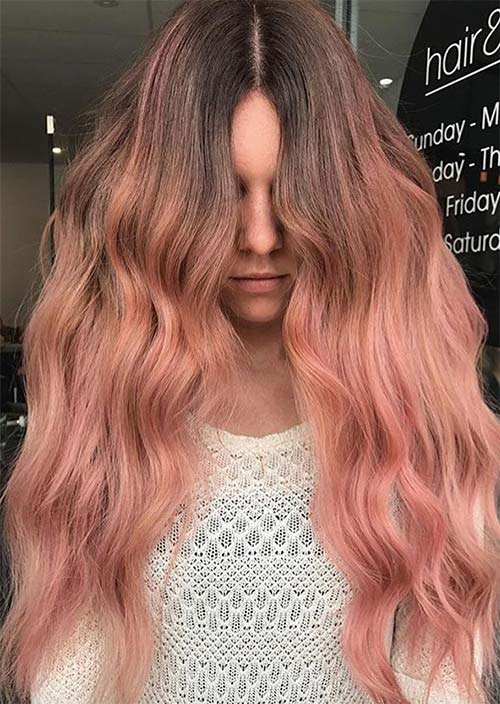 Balayage Hair Trend: Balayage Hair Colors & Balayage Highlights: Peach Balayage