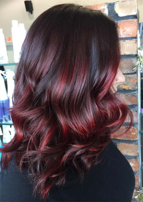 Balayage Hair Trend: Balayage Hair Colors & Balayage Highlights: Cherry Cola Balayage