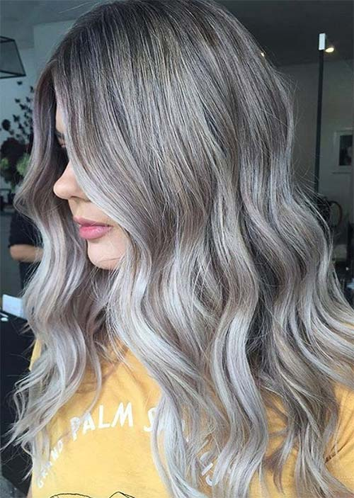 Balayage Hair Trend: Balayage Hair Colors & Balayage Highlights: Slate Blonde Balayage