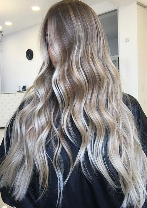 Balayage Hair Trend Colors Highlights Sandy