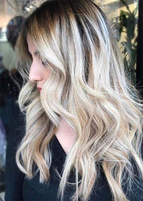 Balayage Hair Trend: Balayage Hair Colors & Balayage Highlights: Blonde Balayage Curls