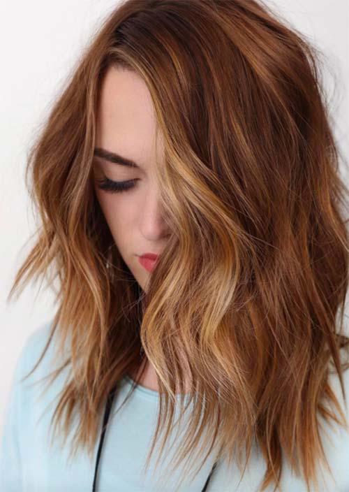 Balayage Hair Trend: Balayage Hair Colors & Balayage Highlights: Ginger Balayage