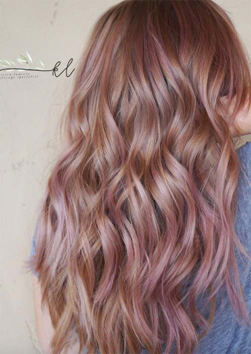 Balayage Hair Trend: Balayage Hair Colors & Balayage Highlights: Rose Copper Balayage
