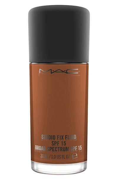 Best Foundations for Dark Skin Tones: MAC Studio Fix Fluid Foundation SPF 15