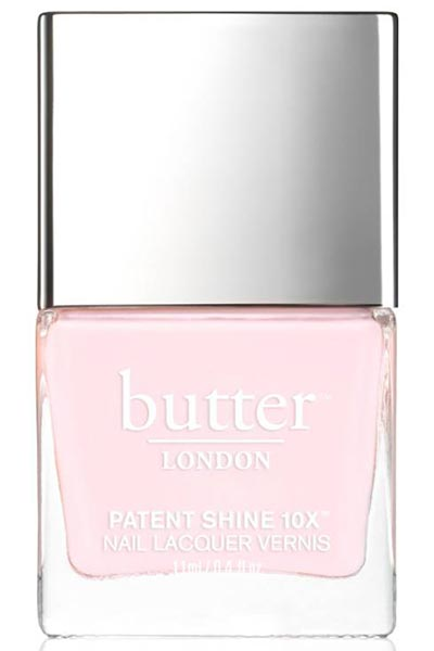 Best Millennial Pink Nail Polishes Colors: Butter London Pink Nail Polish in Twist & Twirl