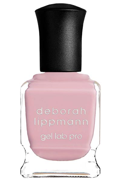 Best Millennial Pink Nail Polishes Colors: Deborah Lippmann Pink Nail Polish in Cake by the Ocean