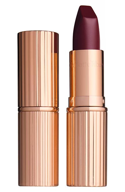 Best Red Lipsticks for Dark Skin Tones: Charlotte Tilbury Matte Revolution in Glastonberry