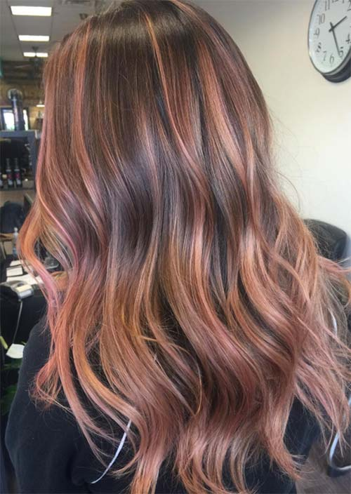 52 Charming Rose Gold Hair Colors How To Get Rose Gold Hair Glowsly