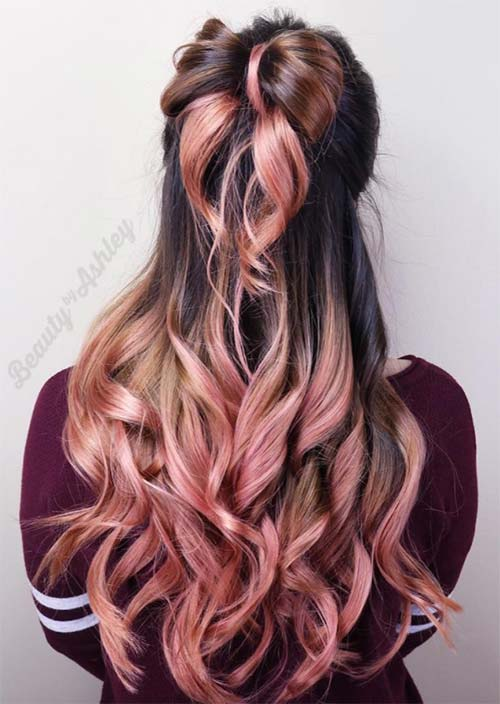 Rose Gold Hair Colors Ideas How To Get