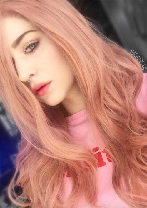 Rose Gold Hair Colors Ideas: How to Get Rose Gold Hair