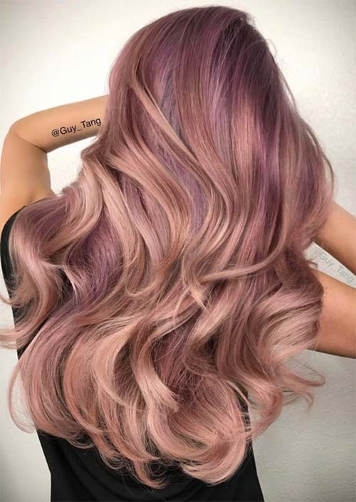 52 Charming Rose Gold Hair Colors How To Get Rose Gold