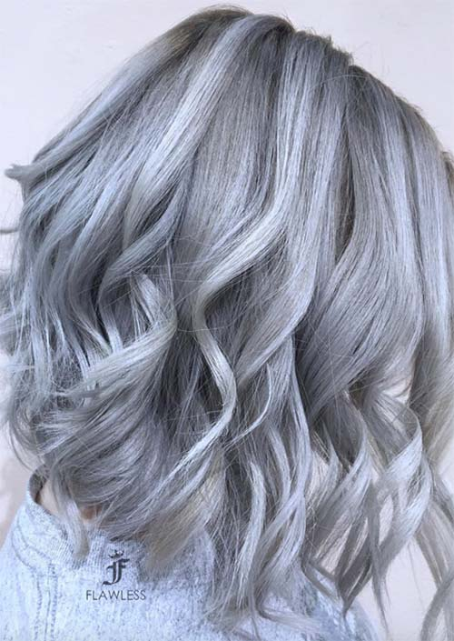 Silver Hair Trend Grey Colors Tips For Going Gray