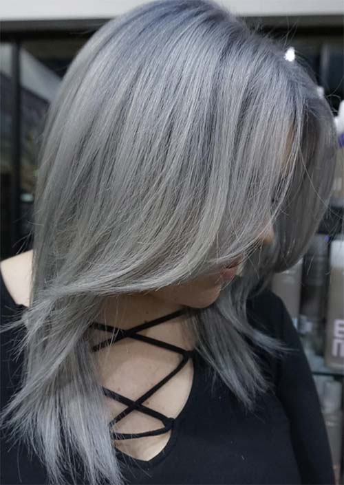 Dark Gray Hair Color Www Pixshark Com Images Galleries