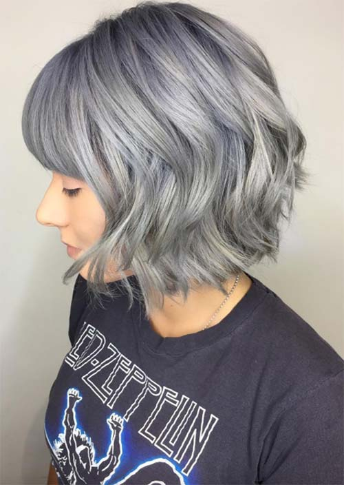 Bob Haircut With Blue Tips Haircuts Models Ideas