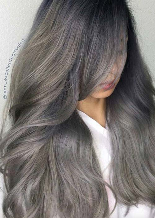 Silver Hair Trend: 51 Cool Grey Hair Colors & Tips for Going ...